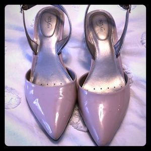 Used Alfani Kitten Heels Size 8 Pink Leather